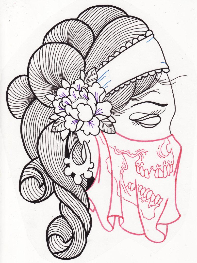 Drawn ssckull gypsy Com Skull Woman Gypsy Gypsy