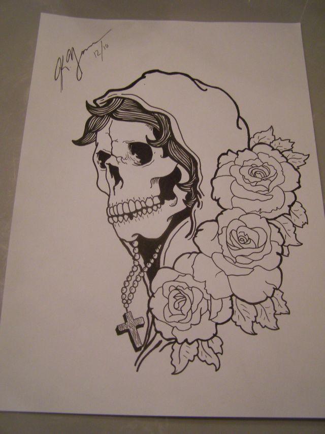 Drawn ssckull gypsy Drawing Gypsy  skull