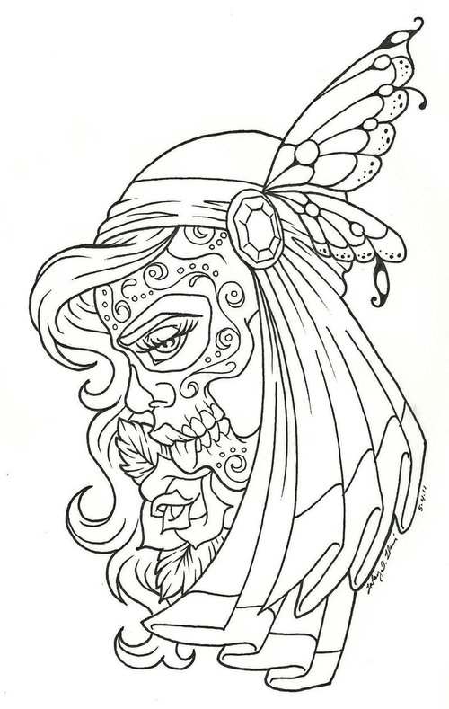 Drawn ssckull gypsy At Picture – Skull At