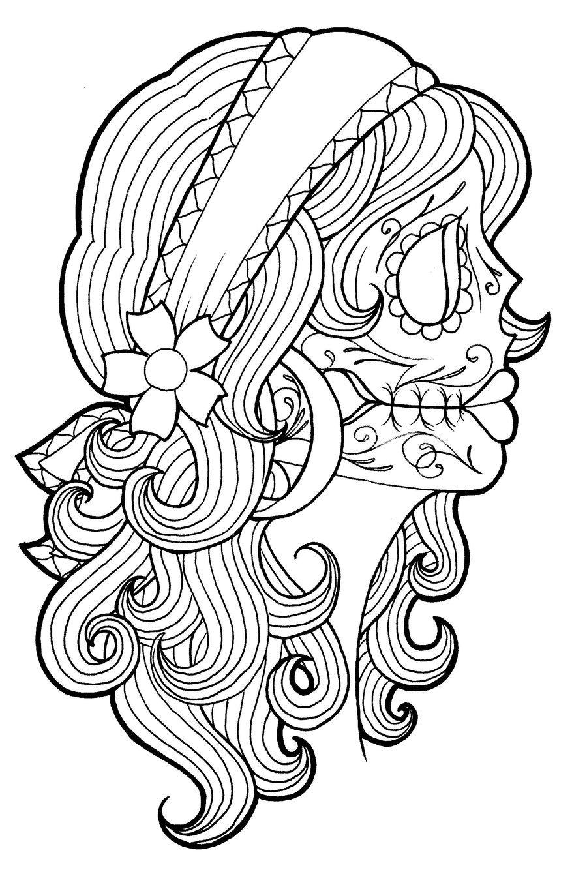 Drawn ssckull gypsy By Gypsy Dead of color