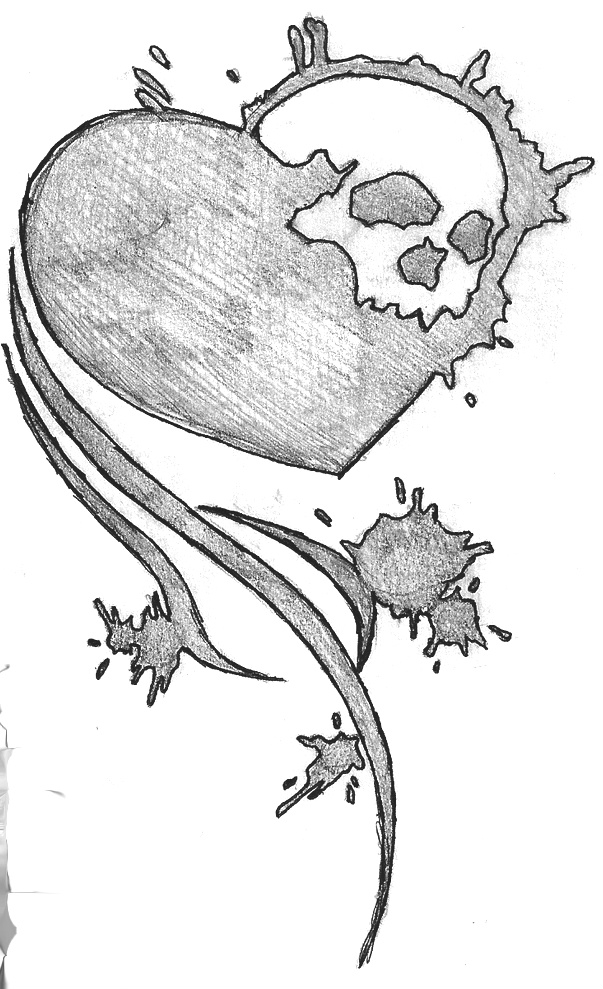 Drawn skull heart By skull on by DeviantArt