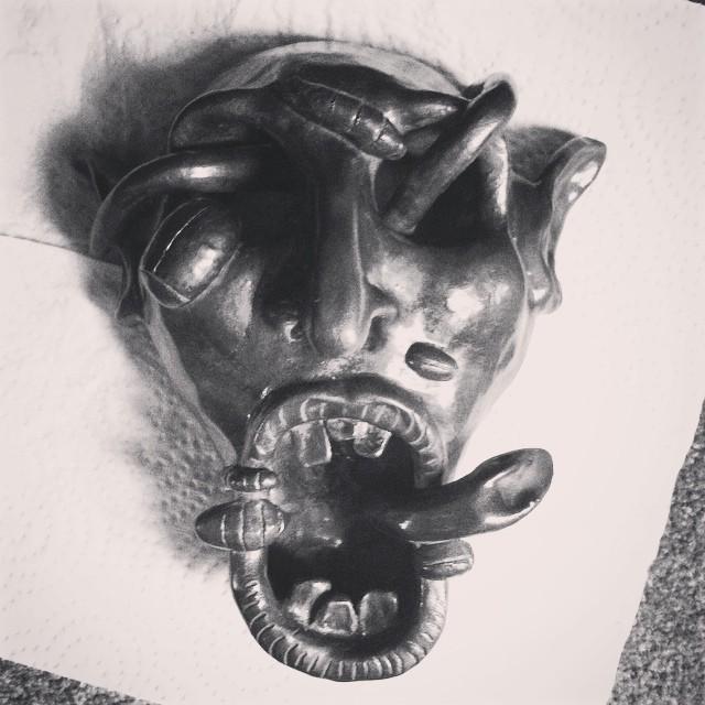 Drawn bug skull #artist #bug #snake skull scary