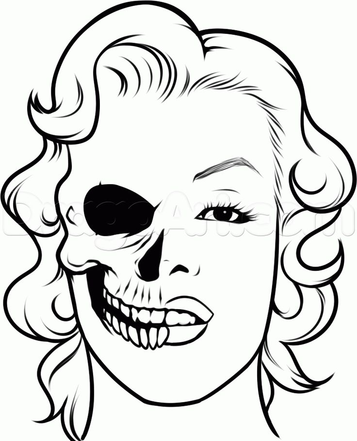 Drawn ssckull nose 44 Monroe Skulls Step Pinterest