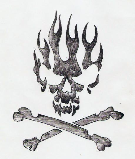 Drawn skull on fire On by DeviantArt Skull Skull