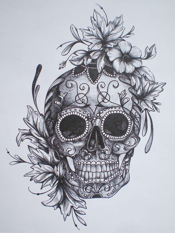 Drawn skull pinter Drawing Best Free Skull For