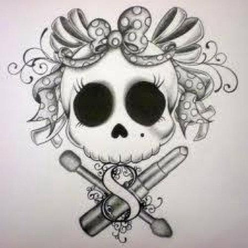 Drawn skull pinter Tattoo followpics Magazine with Inked