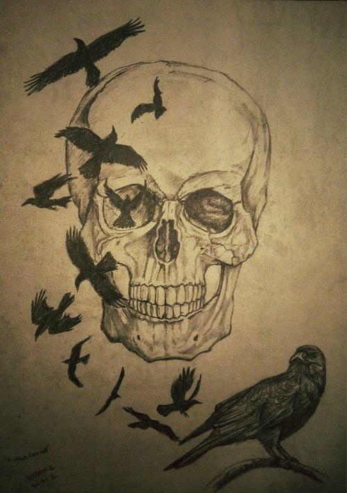 Drawn skull pinter Skull drawing Drawing #draw Pinterest