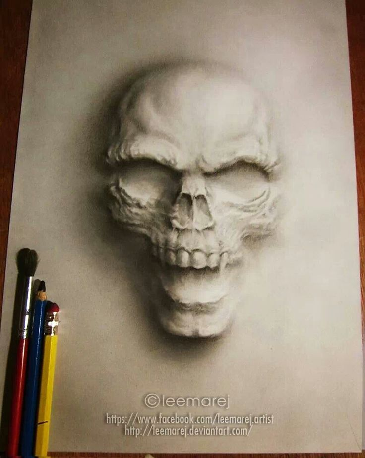 Drawn skull shaded Drawing for drawings shading