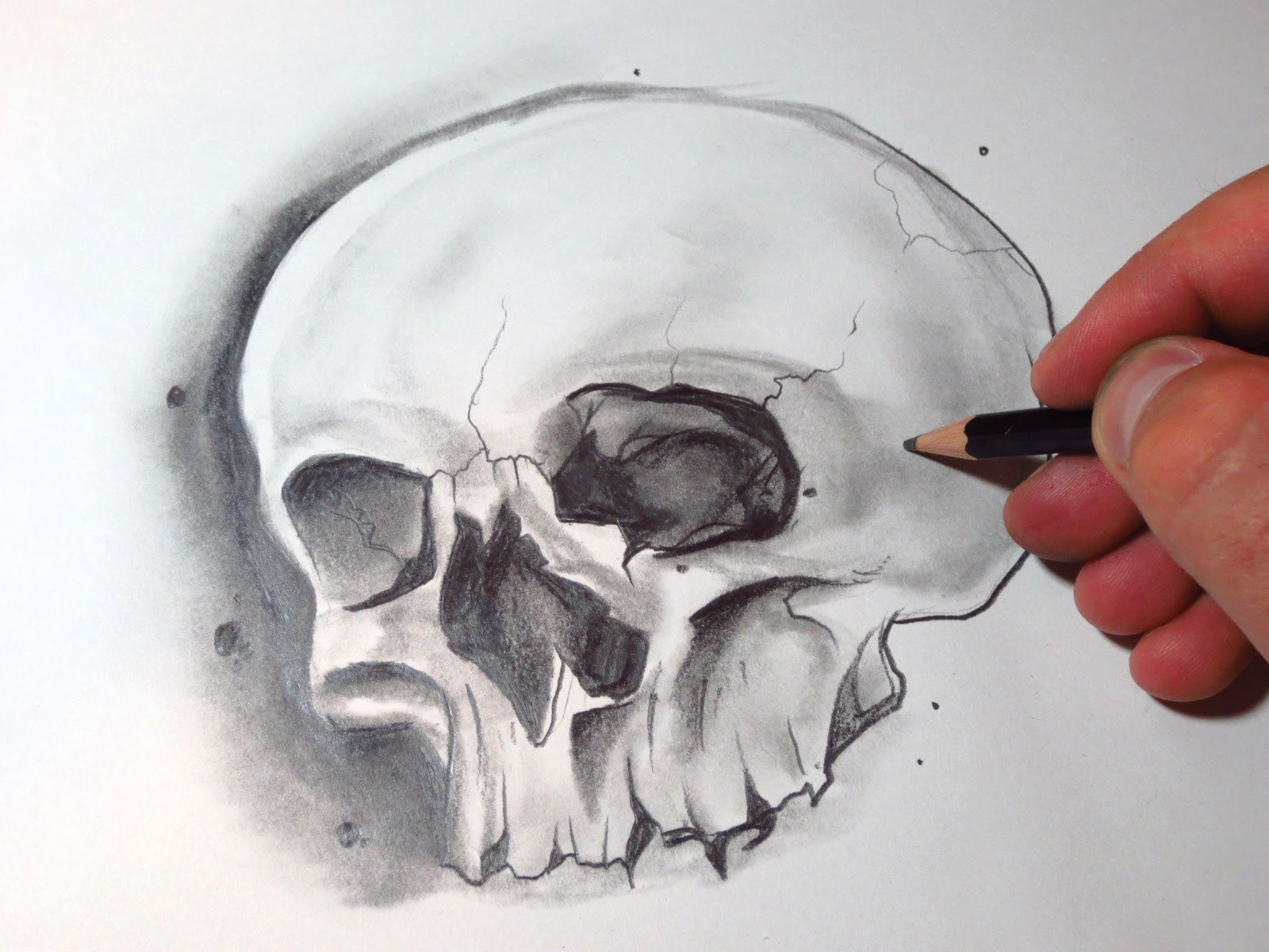 Drawn skull shaded Draw  A To Skull