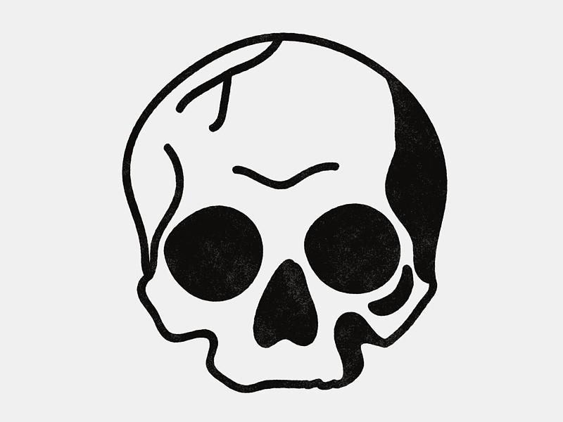 Drawn ssckull simple Simple ideas on Pinterest Best