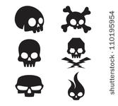 Drawn skull small Simple skull small Quality designs