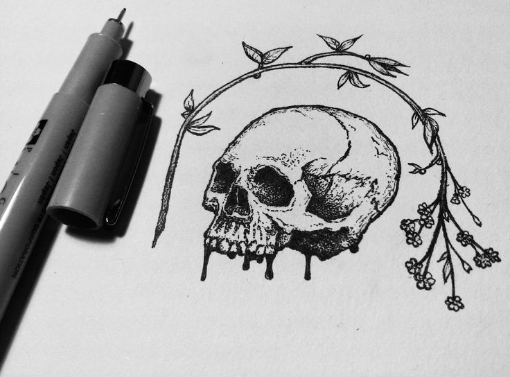 Drawn skull small 25+ drawing on Best Pinterest