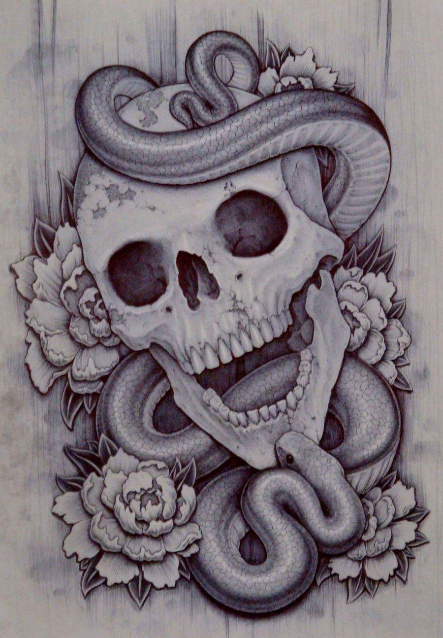 Drawn skull snake Funny pics Art Skulls Of