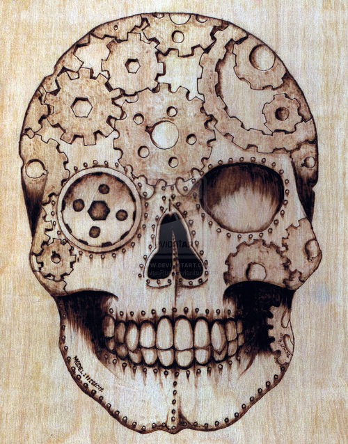 Drawn skull steampunk Skull Skull by Skulls Rue