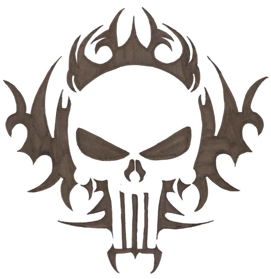 Drawn ssckull tribal Tribal ghostnikhil ghostnikhil on Skull