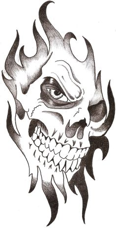 Drawn ssckull unique Drawings slick on tribal