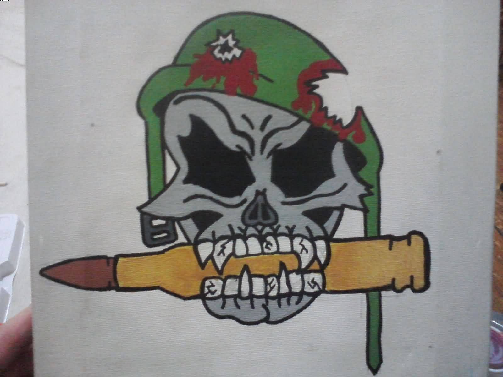 Drawn skull us army Page Graphics and Army Designs