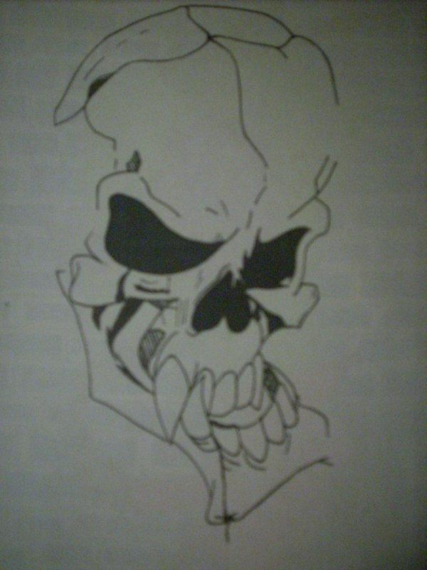 Drawn skull wicked NatchezArtist by wicked by NatchezArtist
