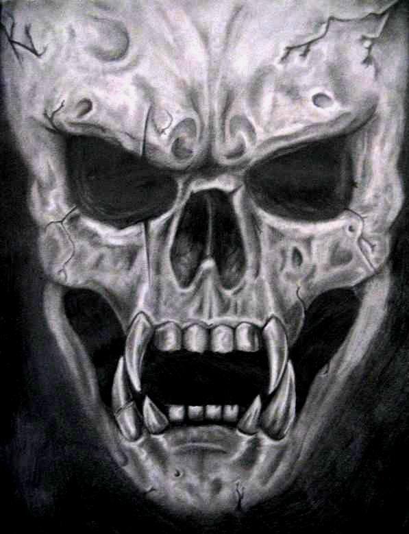 Drawn skull wicked SciFi/Fantasy out Skulls Cool Art