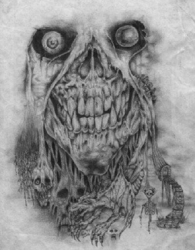 Drawn skull wicked Skulls DeviantArt by partyguru partyguru