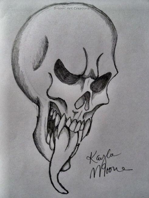 Drawn skull wicked Ilyania by Wicked by ilyania