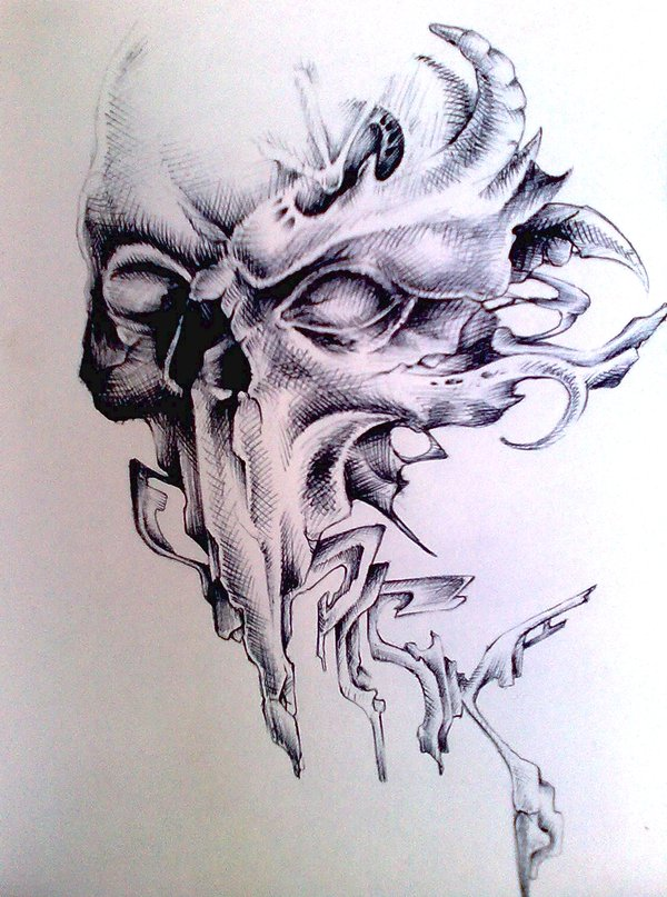 Drawn skull wicked Pick1 by Skull by Pick1
