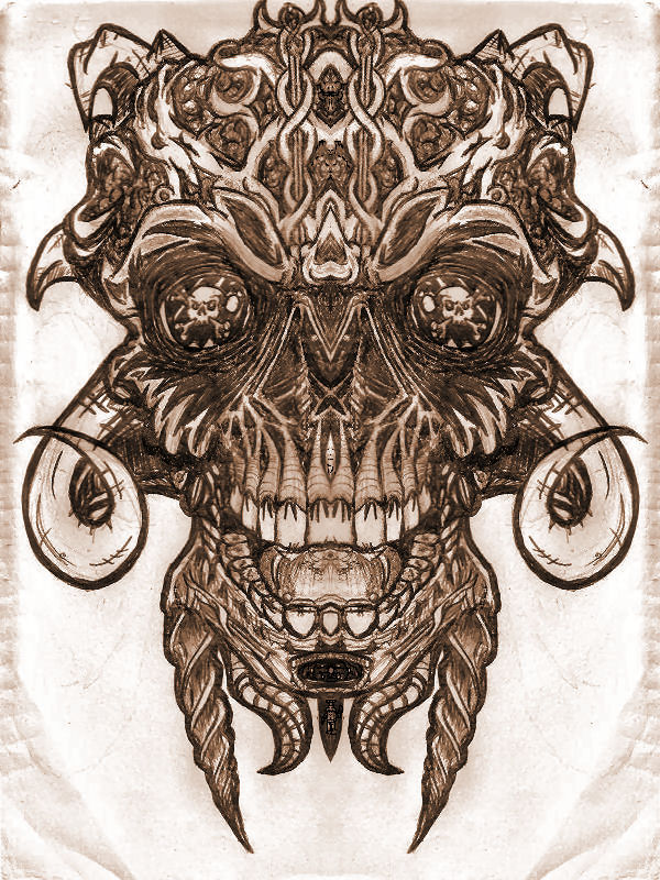Drawn skull wicked By Skull Wicked Mirror Mirror