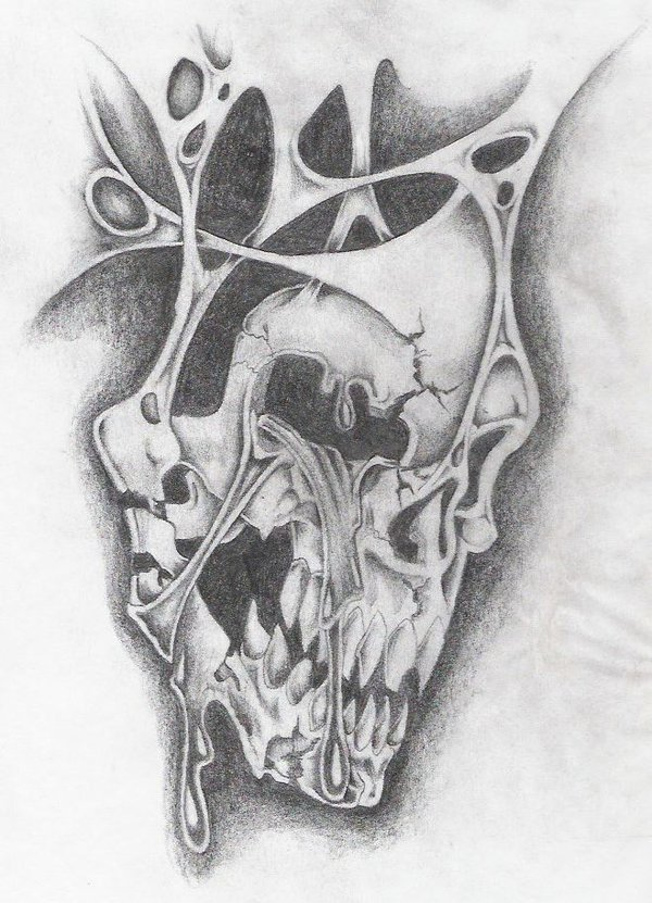 Drawn skull wicked Markfellows skull Tattoo And Black