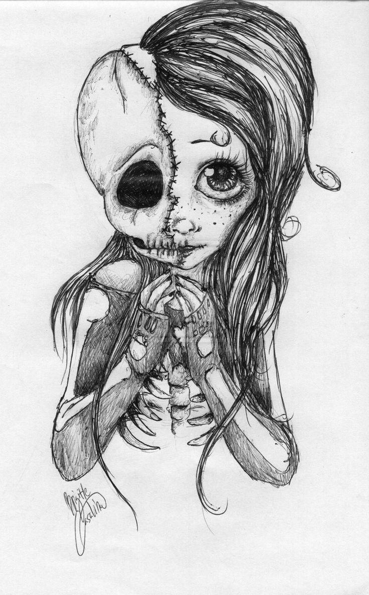 Drawn sugar skull pencil drawing Girl com Pinterest 20+ by