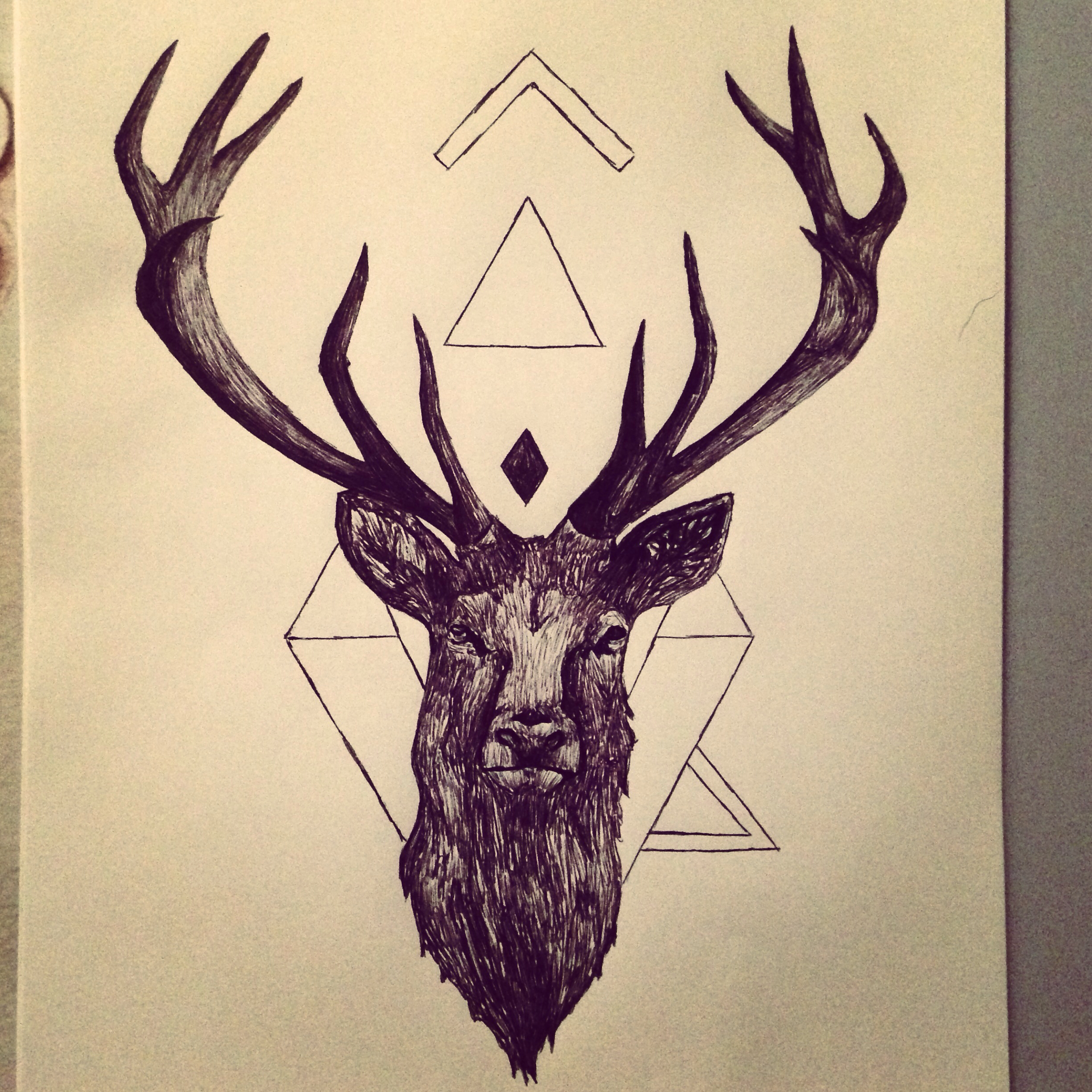 Drawn stag Drawing artist Pinterest drawing Stag