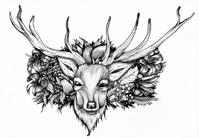 Drawn stag Fine 8 of liner 0