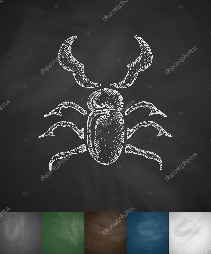 Drawn stag abstract Beetle stag Palau83 stag Stock