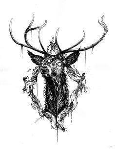 Drawn stag deviantart Tattoo Pinterest Search  tattoos