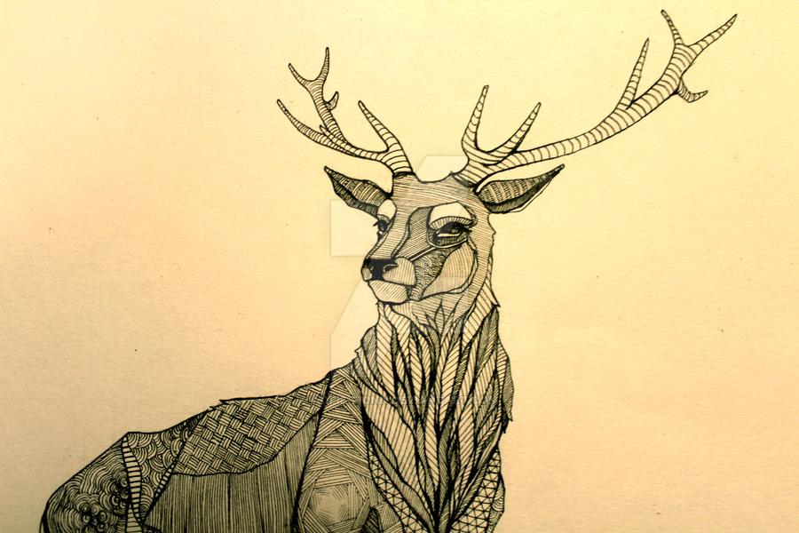 Drawn stag deviantart On DeviantArt fionn by Stag