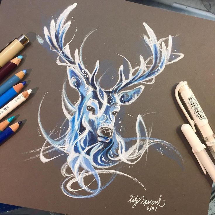 Drawn stag full body ❤ darkness a through 25+