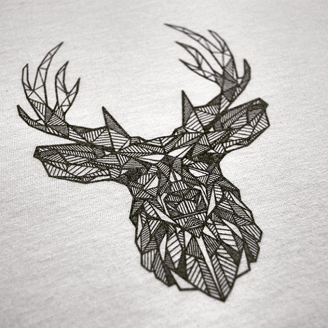 Drawn stag geometric They Influencer to Love tee