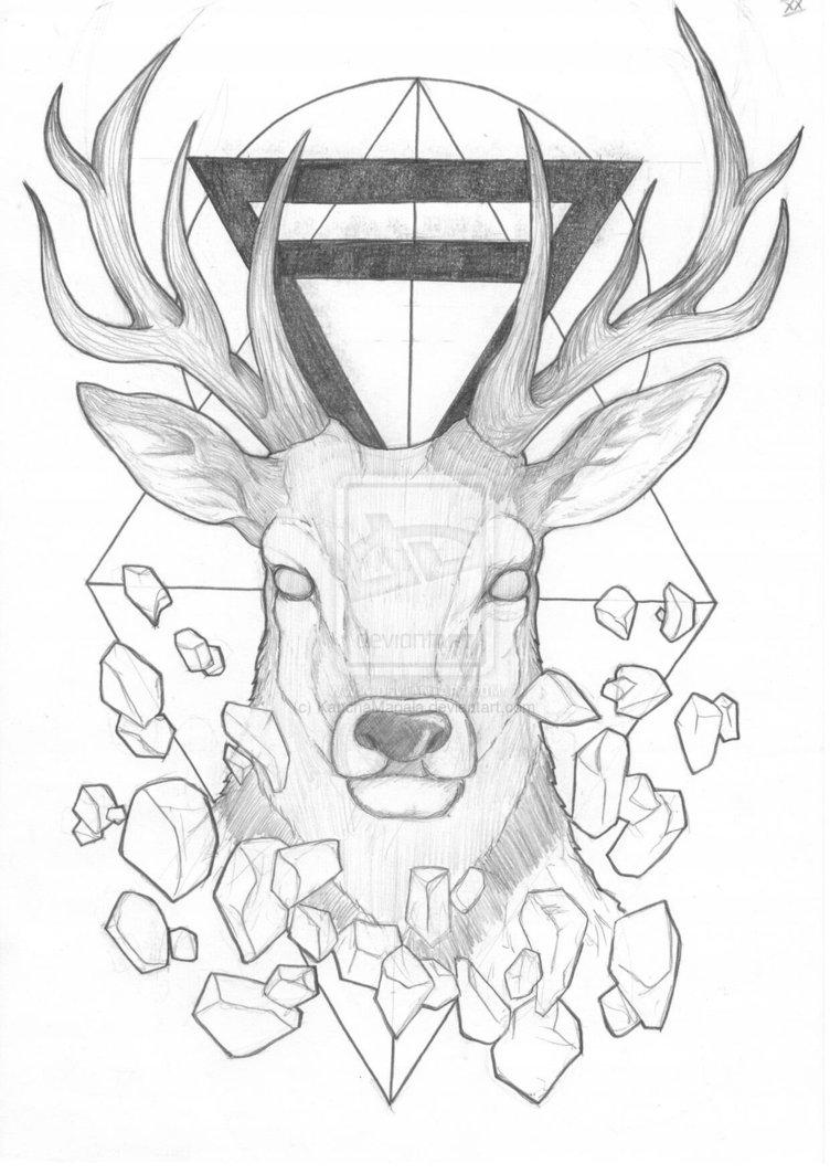 Drawn stag geometric Intentar Google con tattoo Buscar