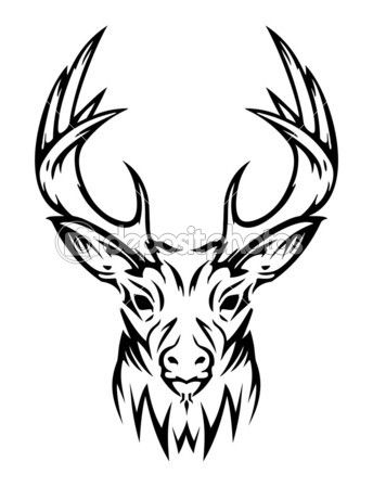 Drawn stag hunting On 7gone Stock The Pinterest