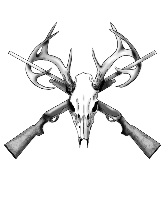 Drawn stag hunting Tattoo 27+ Ideas Tattoo Designs