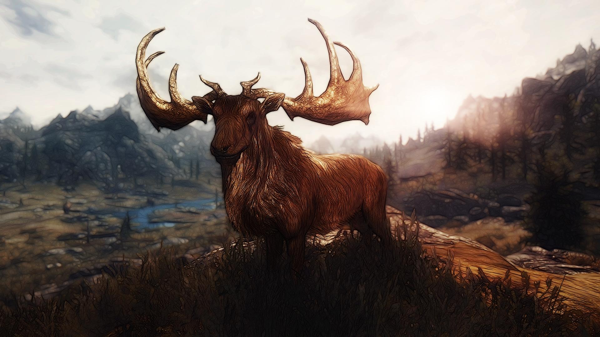 Drawn stag majestic On by Creathor4005 Deer Deer