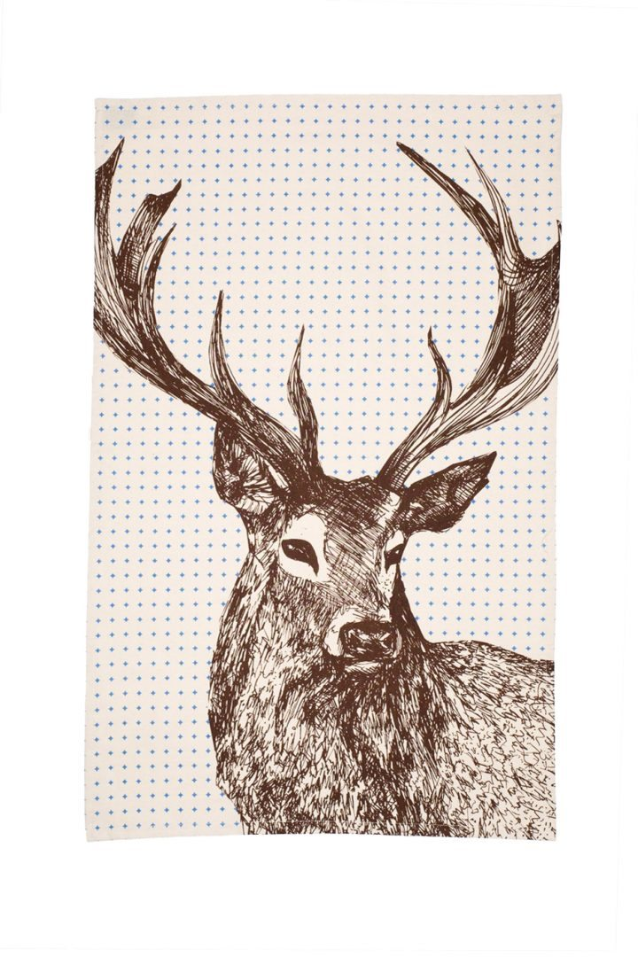 Drawn stag noble Stag Harrison Stag Towel and