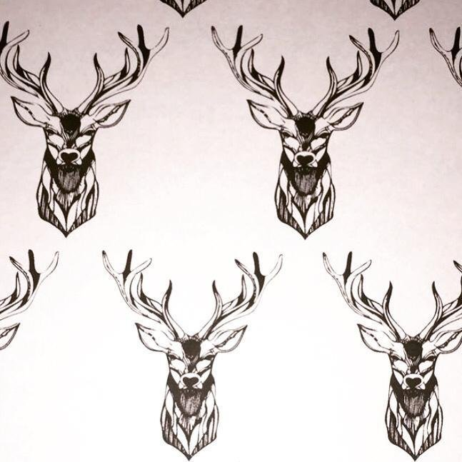 Drawn stag profile Next Mary Lynne My Ritchie