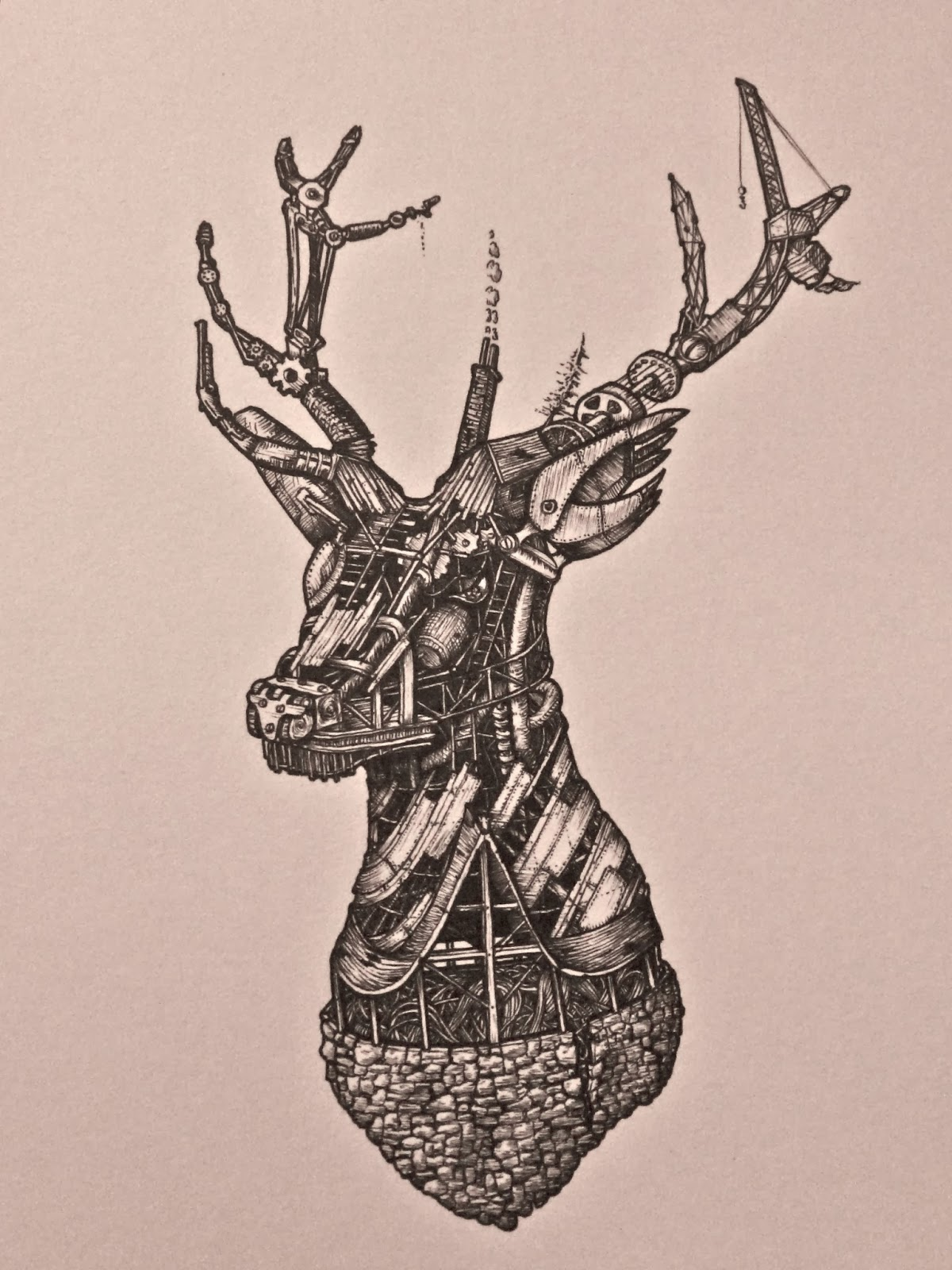 Drawn stag profile DRAWING Stag jpg DAY DAILY