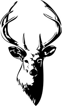 Drawn stag silhouette Head ClipArt Buck silhouette Best