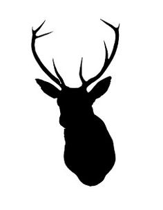 Drawn stag silhouette Type Head DIY  Deer