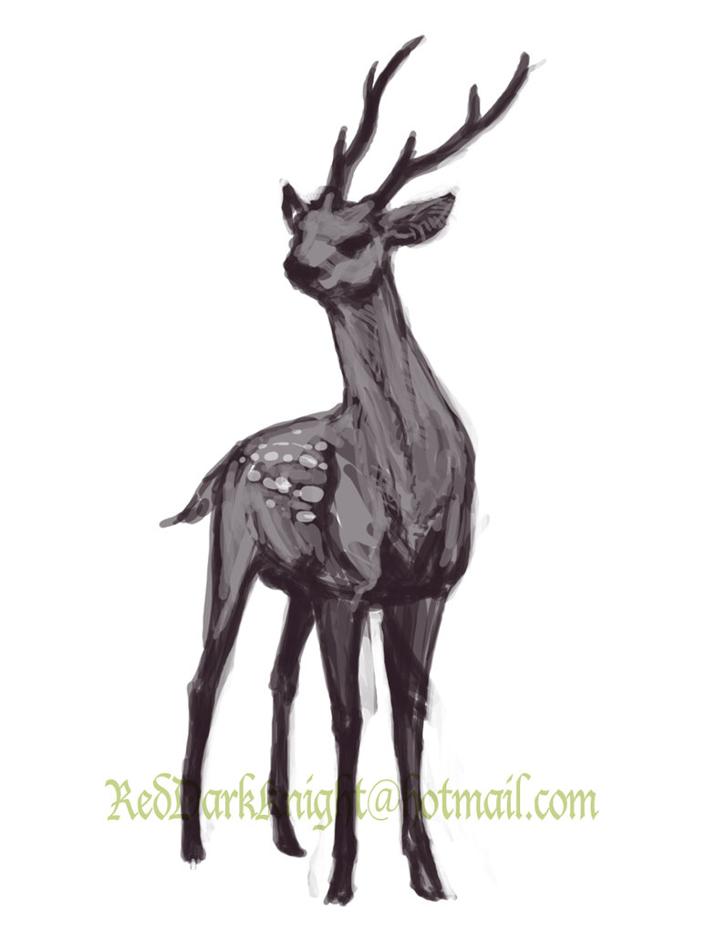 Drawn stag spotted deer KreepingSpawn DeviantArt Sketch: Stag Spotted