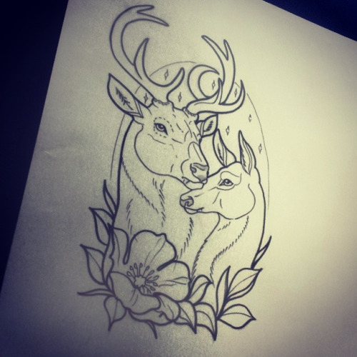 Drawn stag traditional  Google traditional neo neo