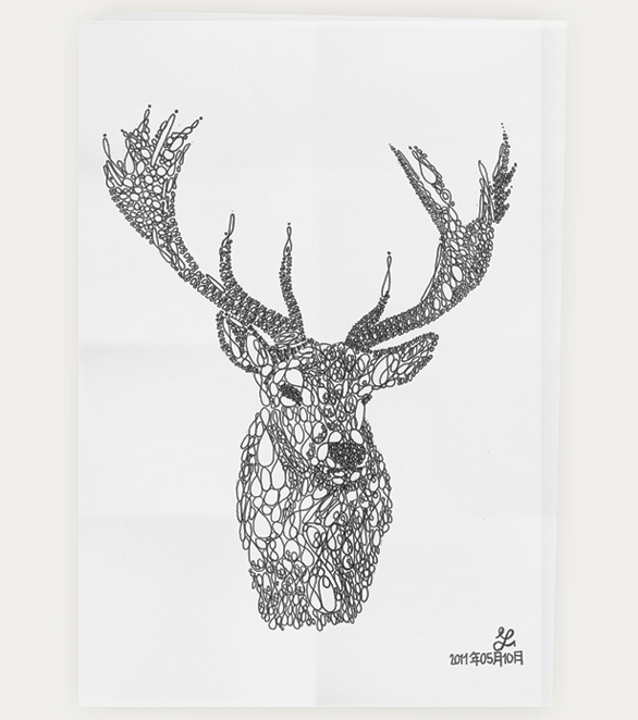 Drawn stag traditional Stag Animal  MSmart Typography