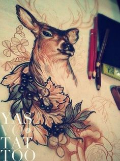 Drawn stag traditional Tattoo TraditionalTraditional · Beautiful Pin