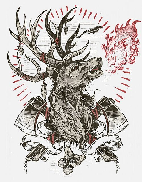 Drawn stag traditional Stag on Stag Castle images